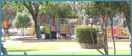 kids playground at Libbey Park Ojai